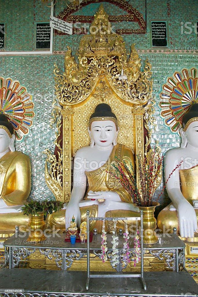 U Min Thonze Cave Sagaing Hill, Myanmar stock photo
