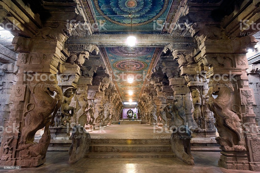 Minakshi temple - Madurai - India stock photo