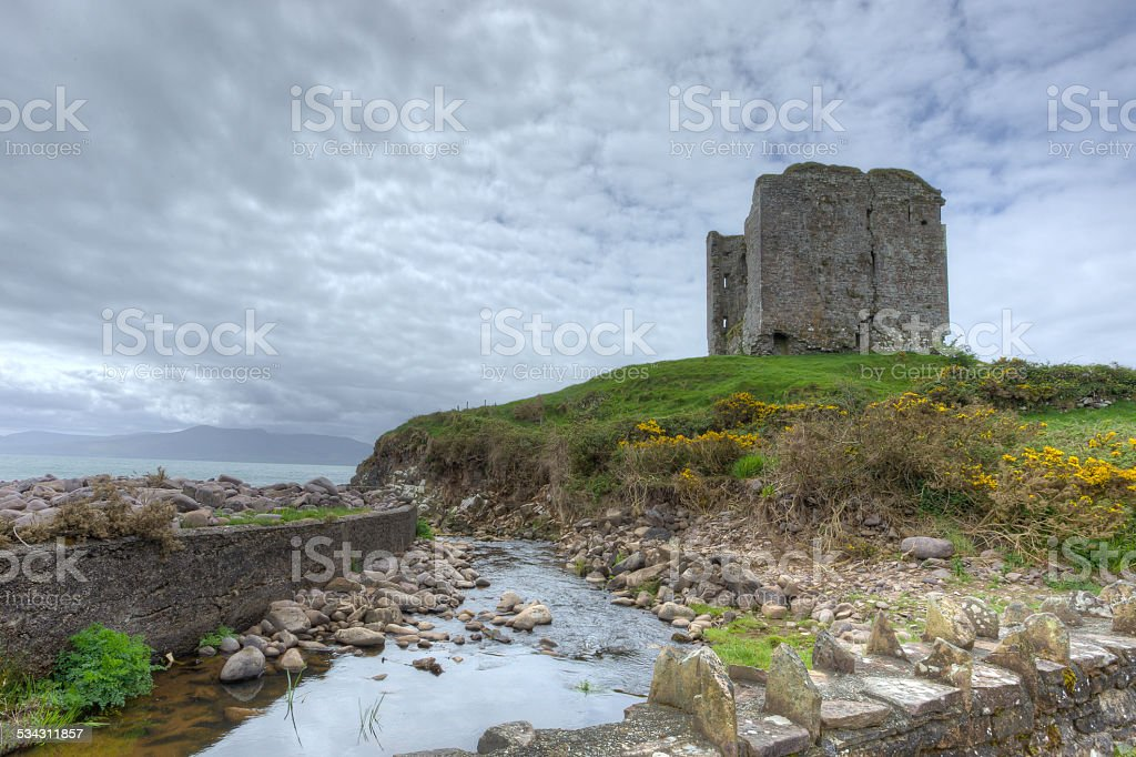 Minard Castle, County Kerry, Ireland stock photo