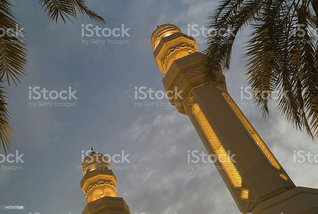 Minaret at Sunset royalty-free stock photo