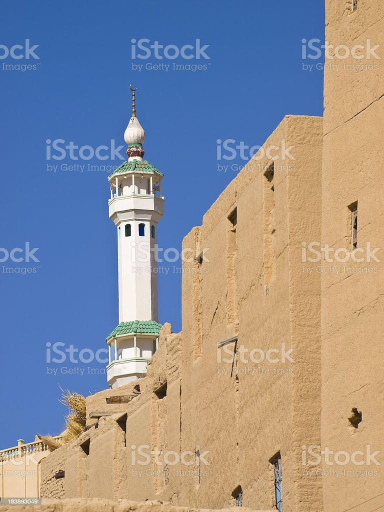 Minaret in Al Hajjaryn royalty-free stock photo