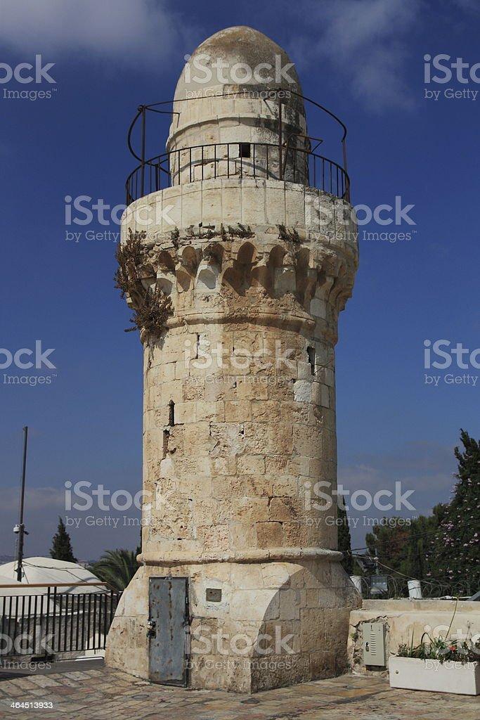 Minaret in Jerusalem royalty-free stock photo
