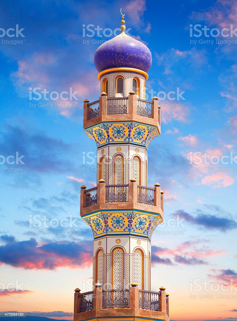 Minaret in Salalah stock photo