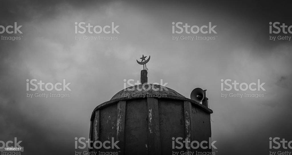 Minaret Mosque (Islam) in Bamako, Mali stock photo