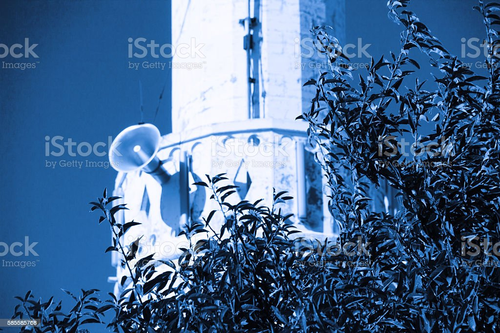 Minaret Of A Mosque stock photo