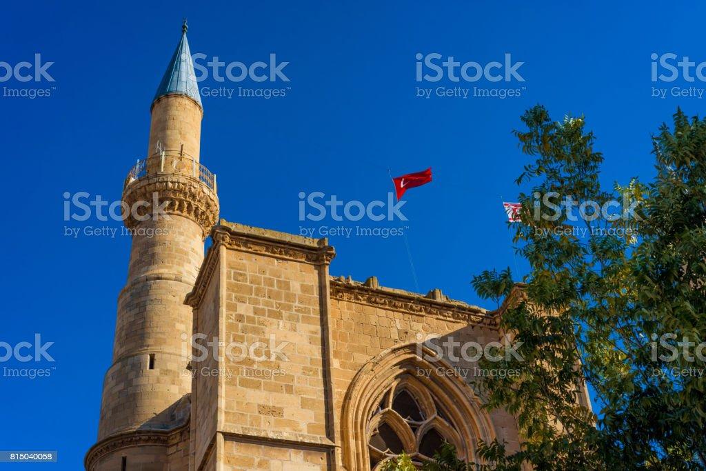Minaret of Selimiye mosque. Nicosia, Cyprus stock photo