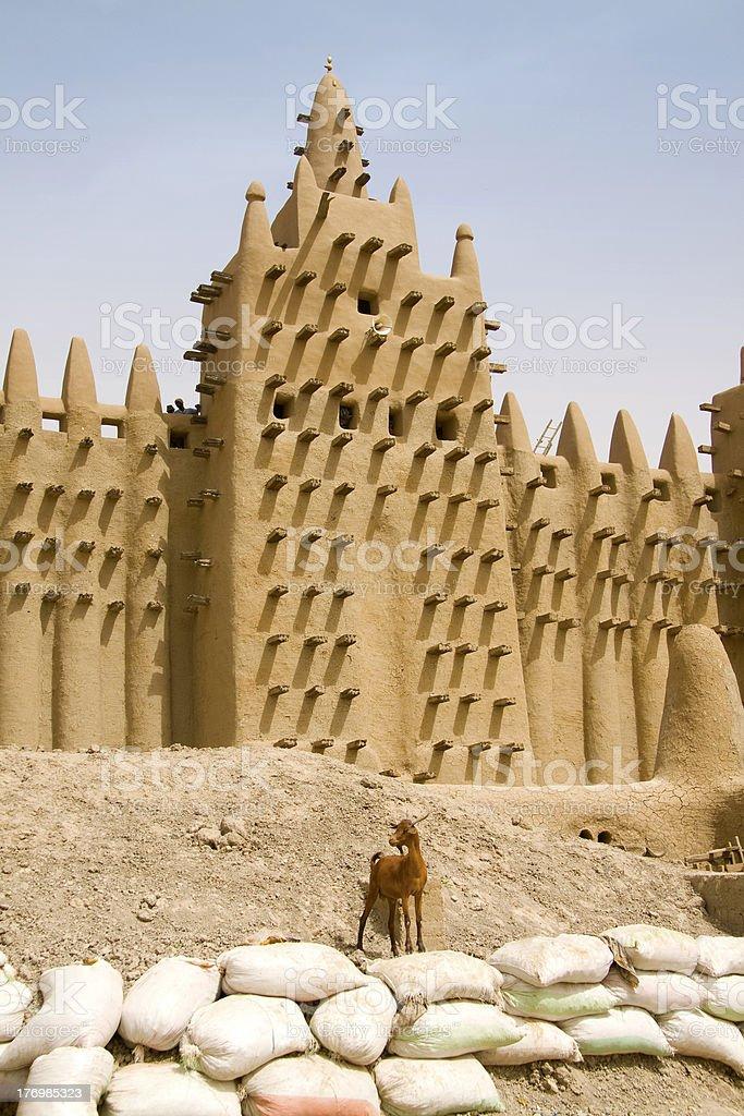 minaret on Djenne mosque,Mali stock photo