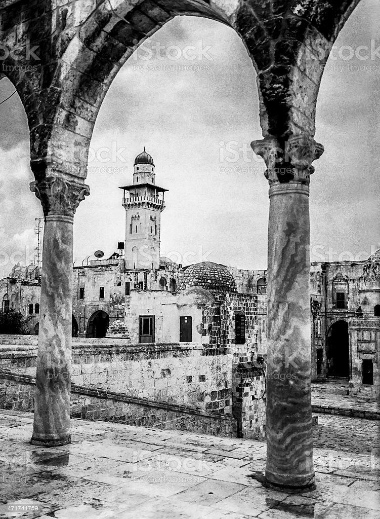 Minaret On The Temple Mount royalty-free stock photo