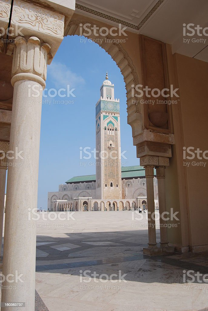 Minaret Through an Arch royalty-free stock photo