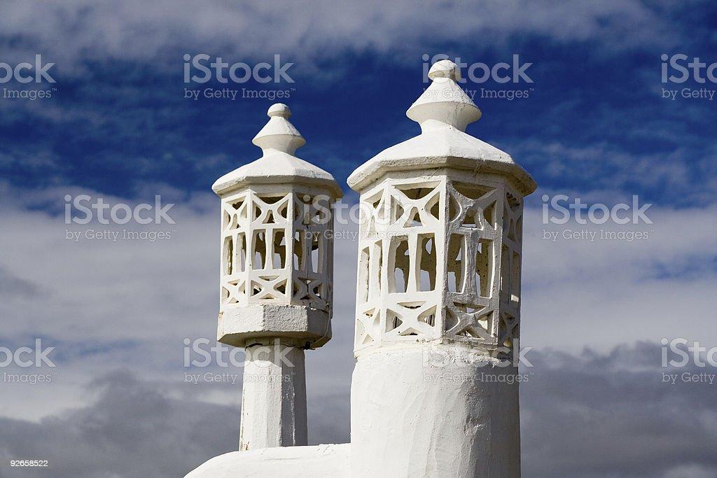 minarets as lamps stock photo