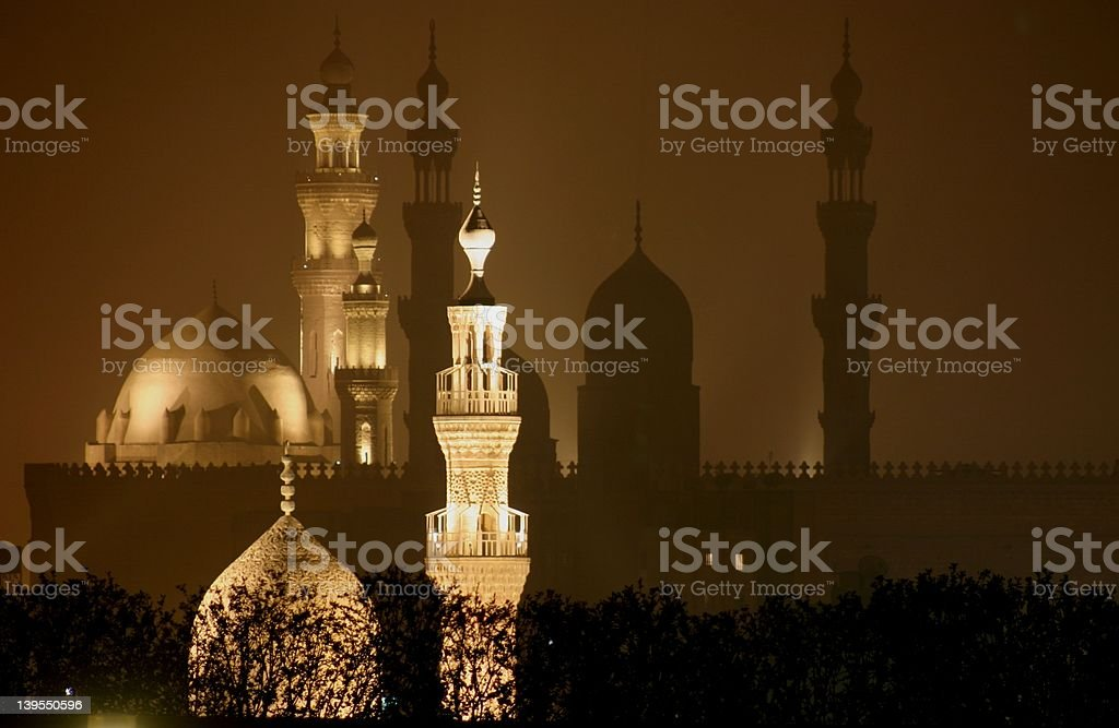 Minarets of Cairo-02 stock photo