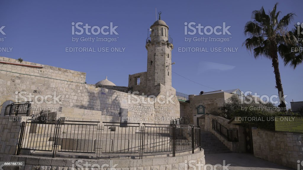 Minarett of the Mosque of the Ascension stock photo