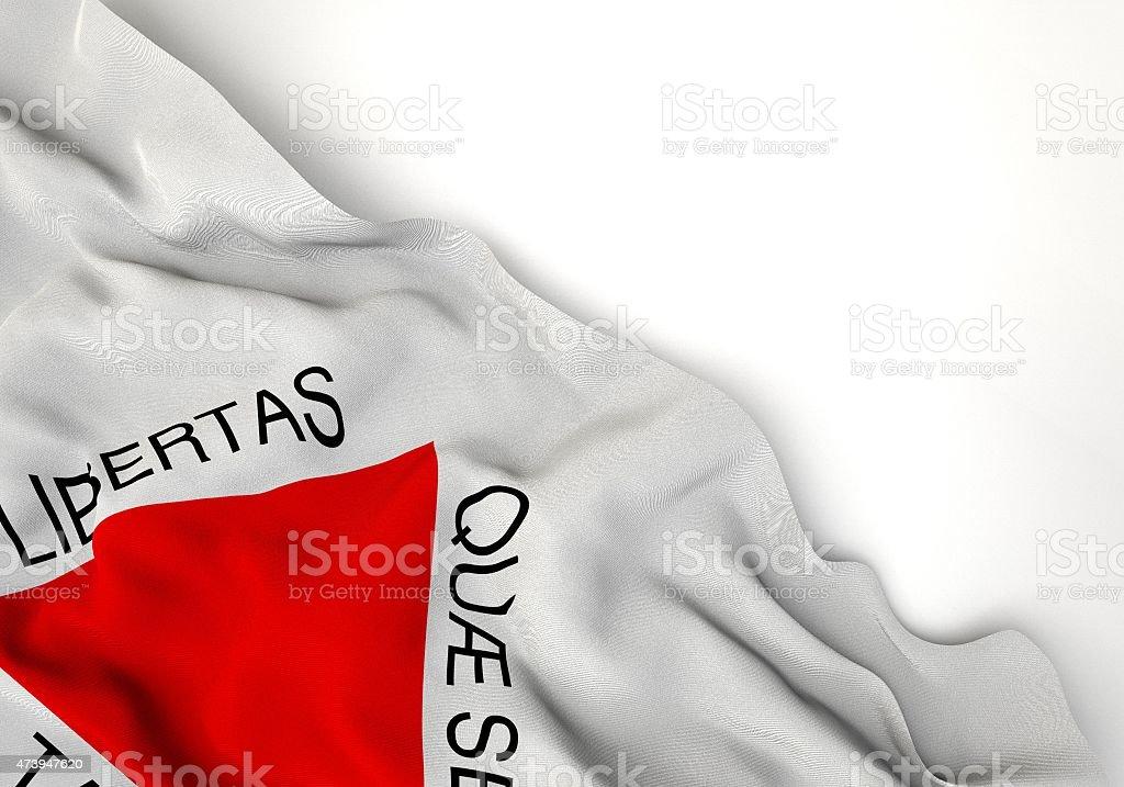 Minas Gerais state 3d corner flag stock photo