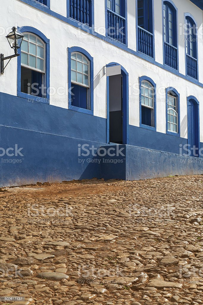 Minas Gerais State - typical building in a historical city royalty-free stock photo
