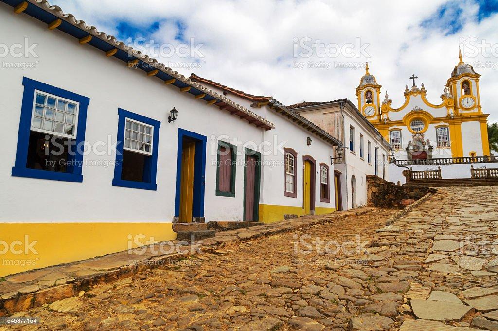 Minas Gerais State - typical building in Tiradentes city stock photo