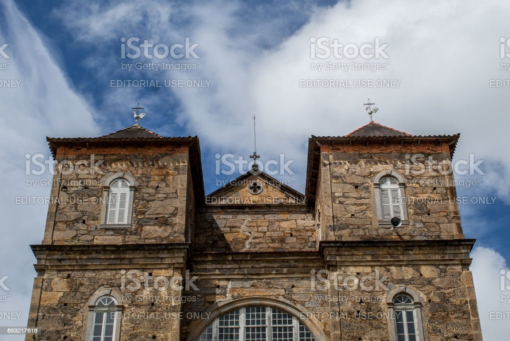 Minas Gerais: Stone Church São José das Três Ilhas, Brazil stock photo