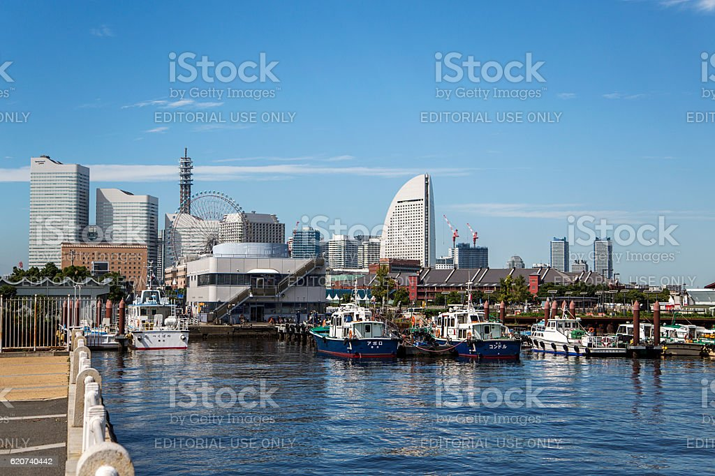 Minato Mirai 21 district in Yokohama, Japan stock photo