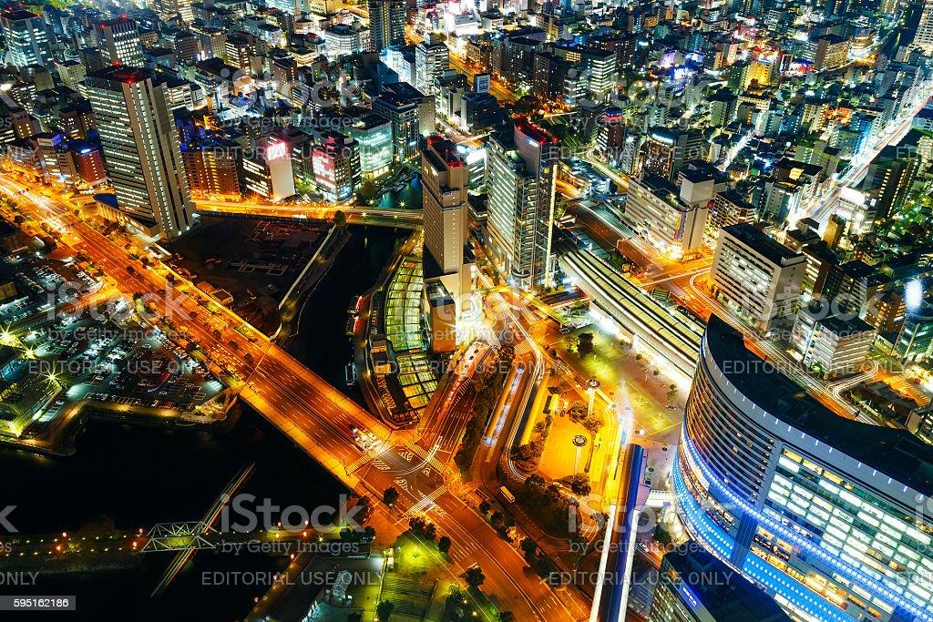 Minato Mirai Area in Yokohama, Japan stock photo