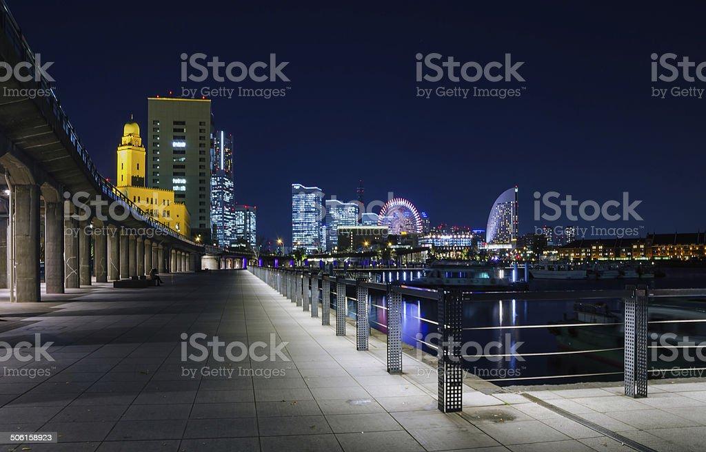 Minato Mirai Bay, Yokohama, Japan stock photo