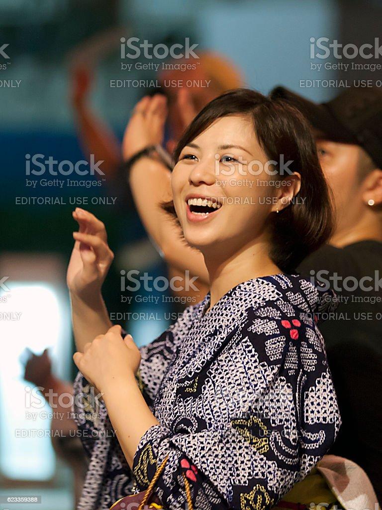 Minato Mirai Bon Odori Taikai 2014 stock photo