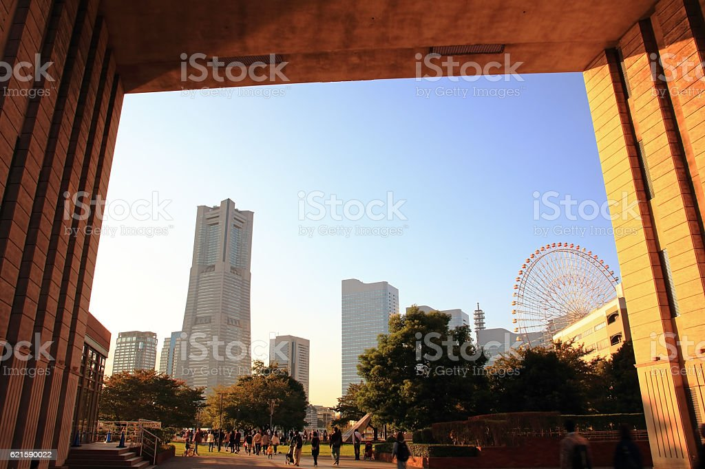 Minato Mirai Landscape stock photo