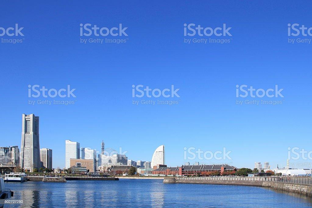 Minato Mirai urban landscape stock photo
