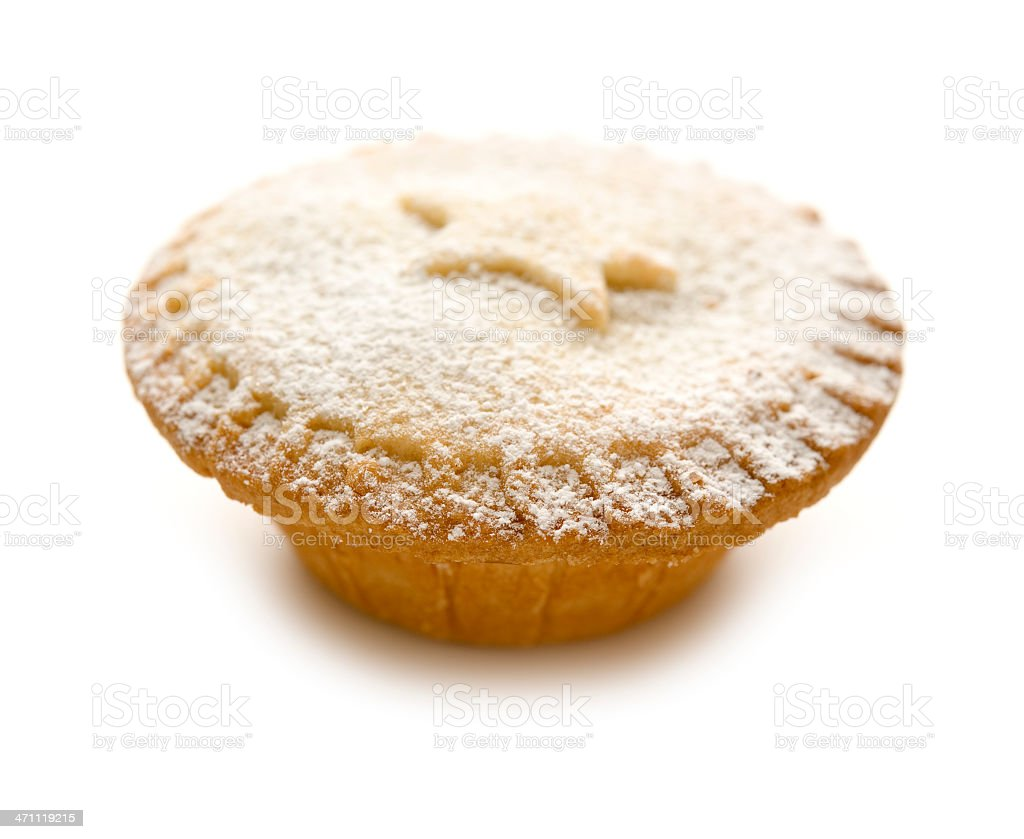 mince pie against white stock photo