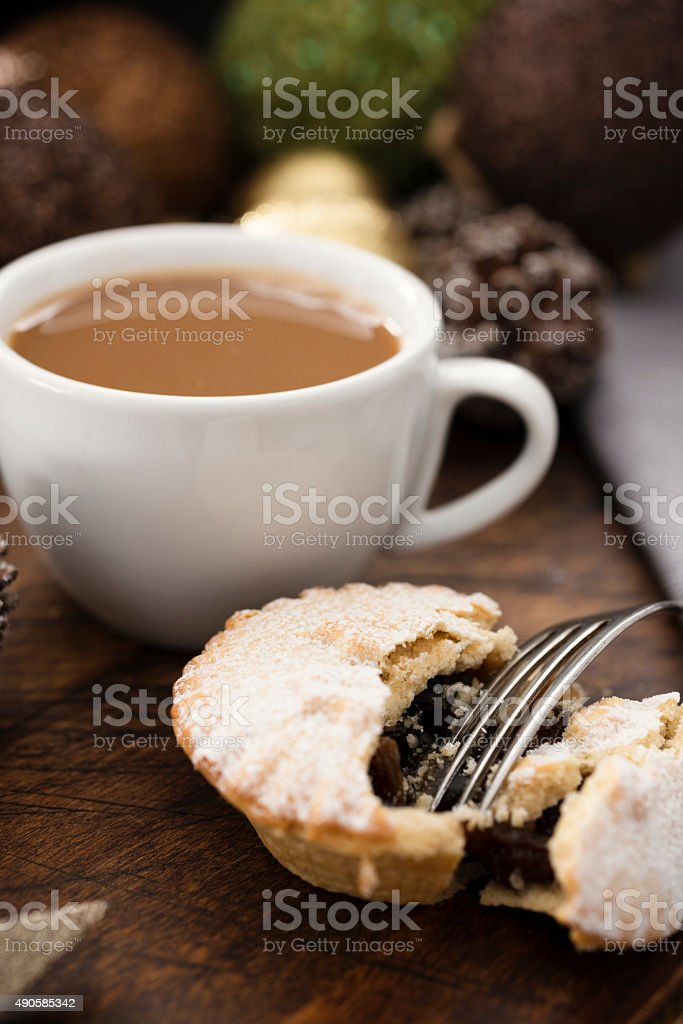 Mince Pies and coffee stock photo