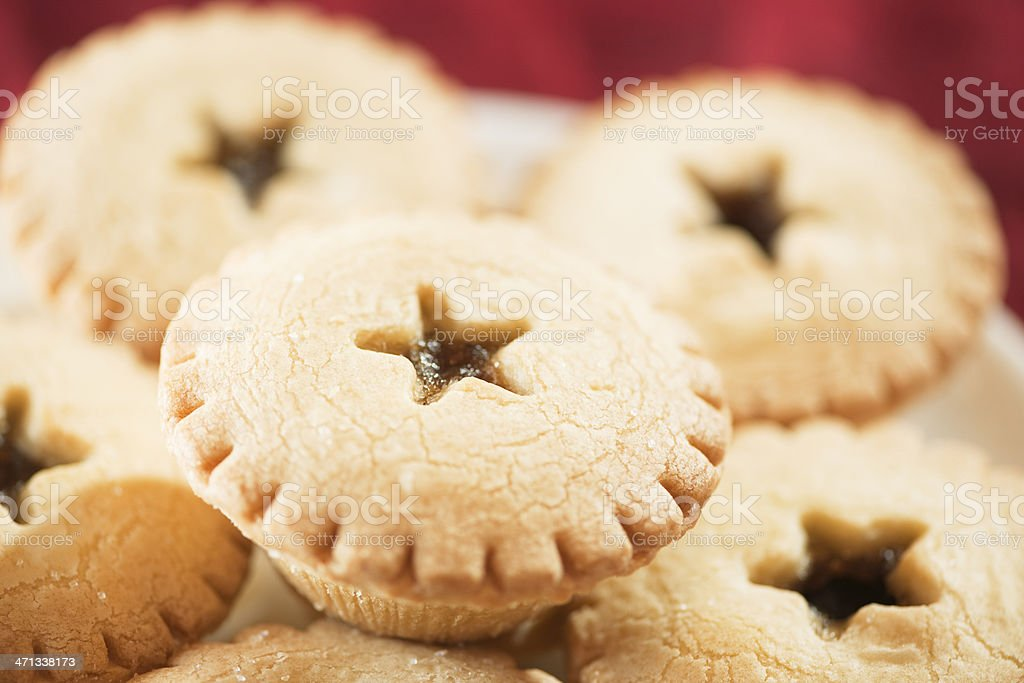 Mince Pies on a Plate stock photo