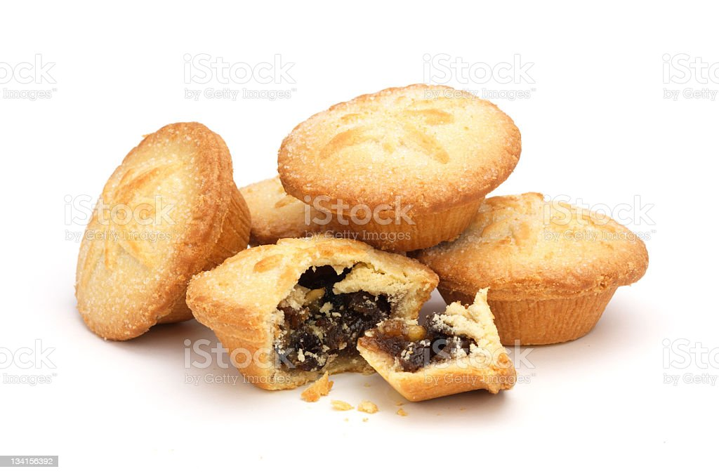 Mince pies on white stock photo