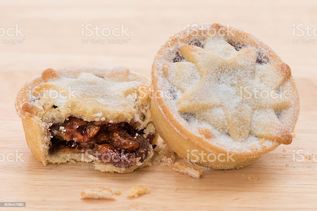 Mince pies stock photo
