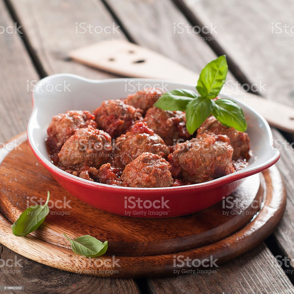 Minced meat bal stock photo