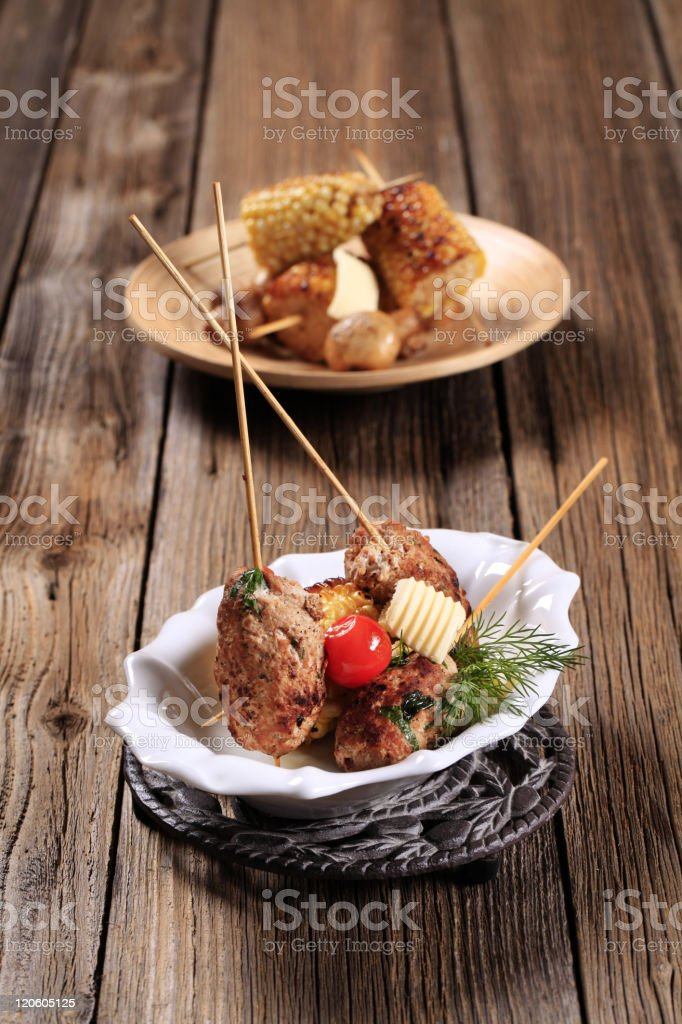 Minced meat kebabs royalty-free stock photo