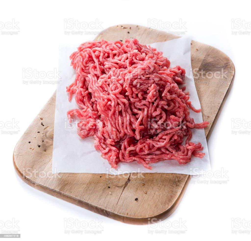 Minced Meat (isolated on white) stock photo