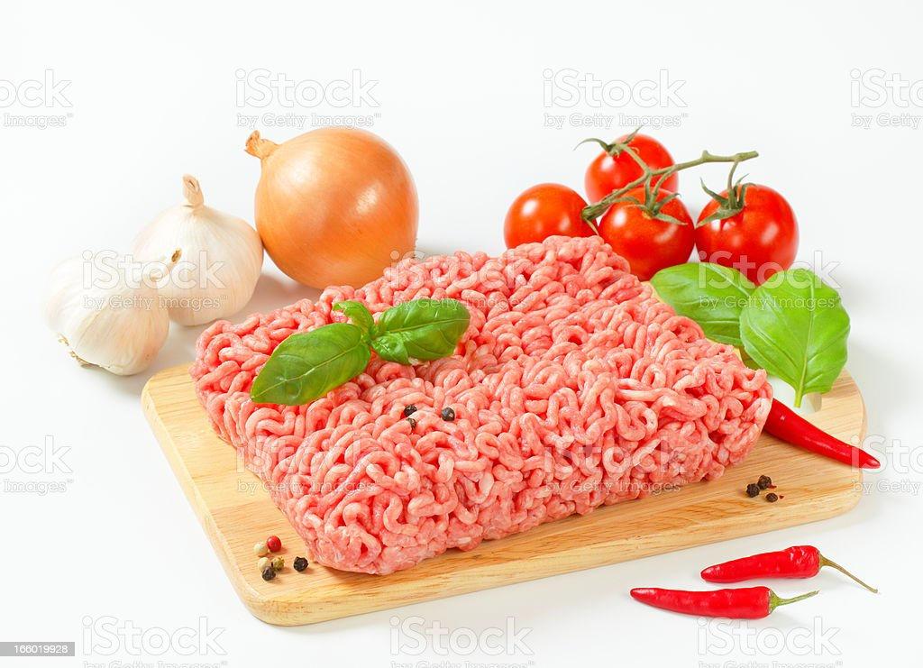 minced meat with garnish royalty-free stock photo
