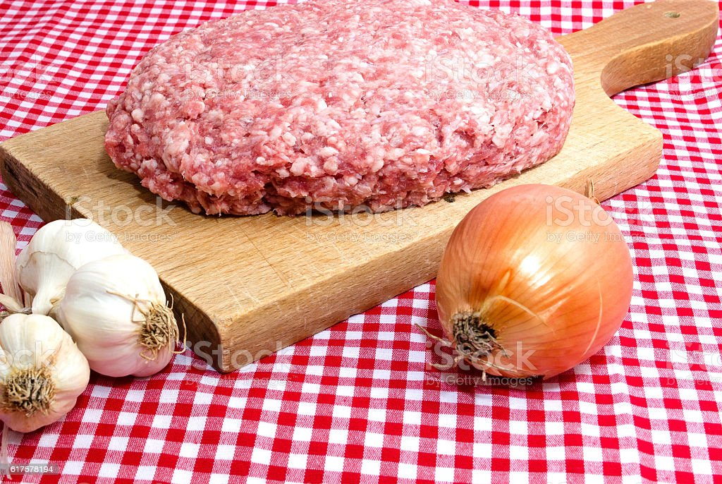 Minced meat with vegetables royalty-free stock photo