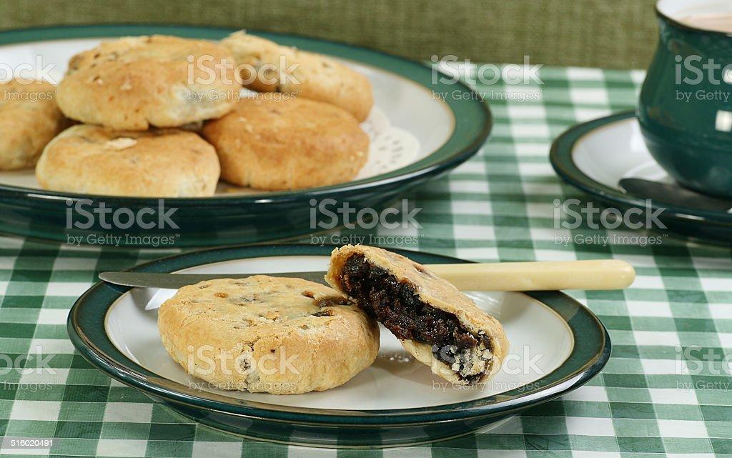 mincemeat eccles cakes stock photo