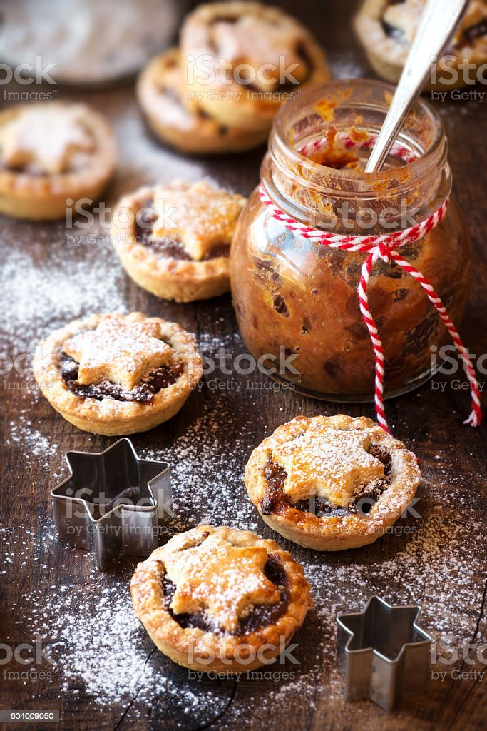Mincemeat pies stock photo
