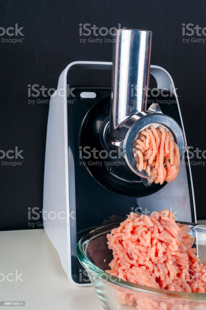 Mincing machine and meat stock photo
