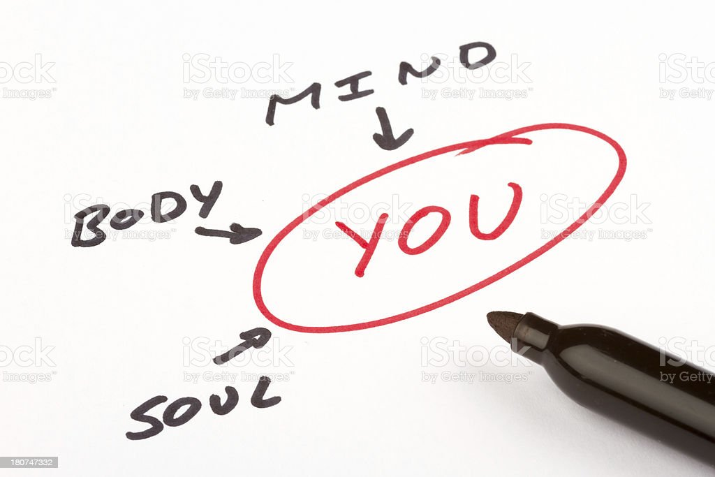 Mind body and soul royalty-free stock photo