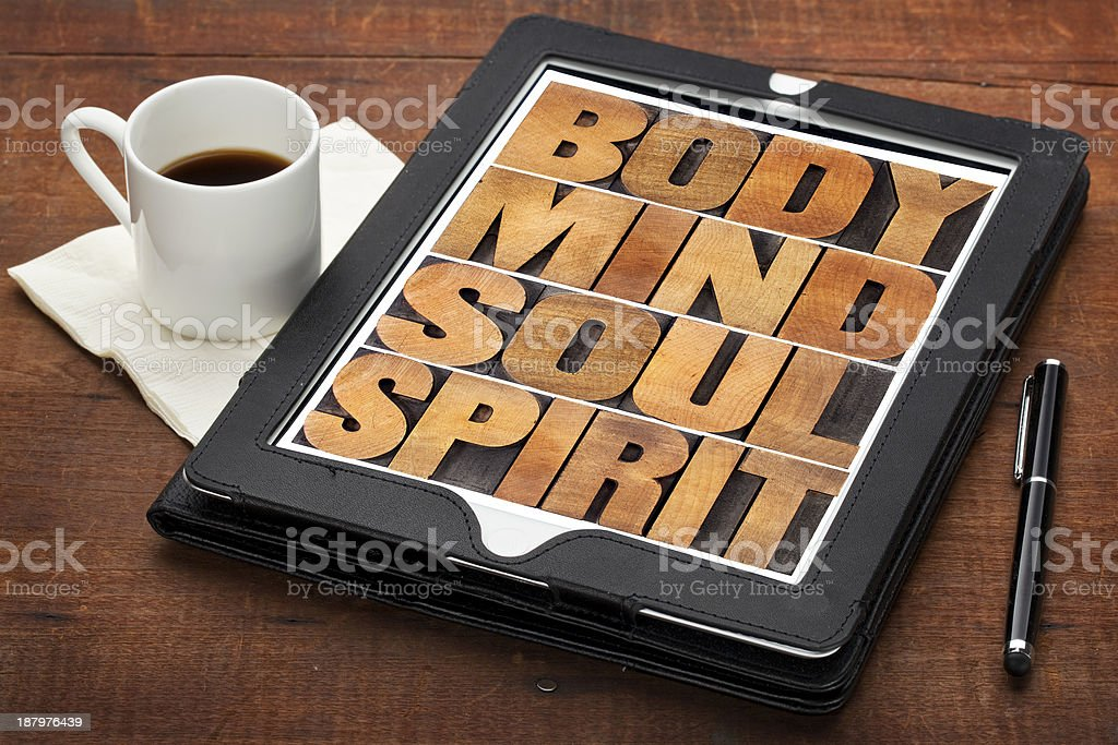 mind, body, soul and spirit stock photo