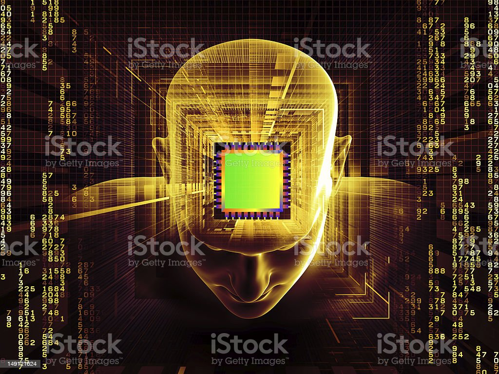 Mind Chip royalty-free stock photo