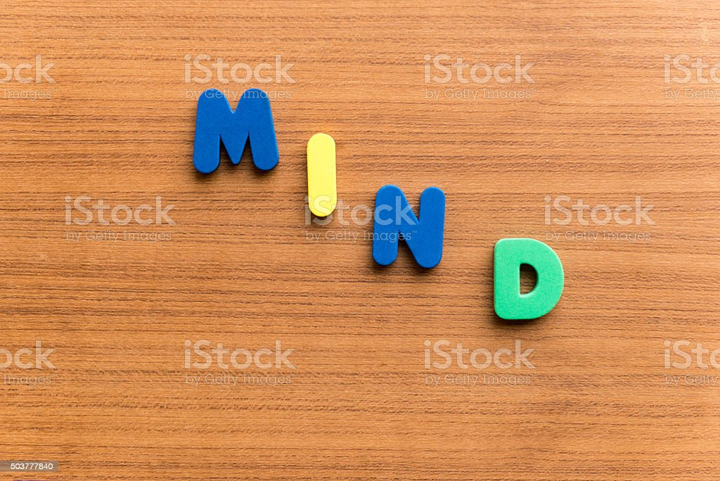mind  colorful word stock photo