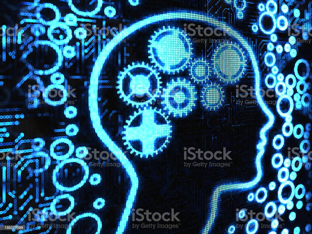 mind gear royalty-free stock photo