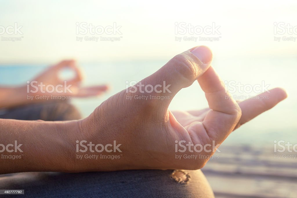 mind healty lifestyle hand gesture stock photo