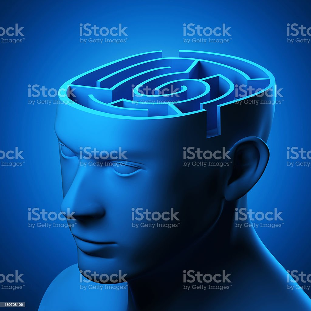 Mind Labyrinth royalty-free stock photo
