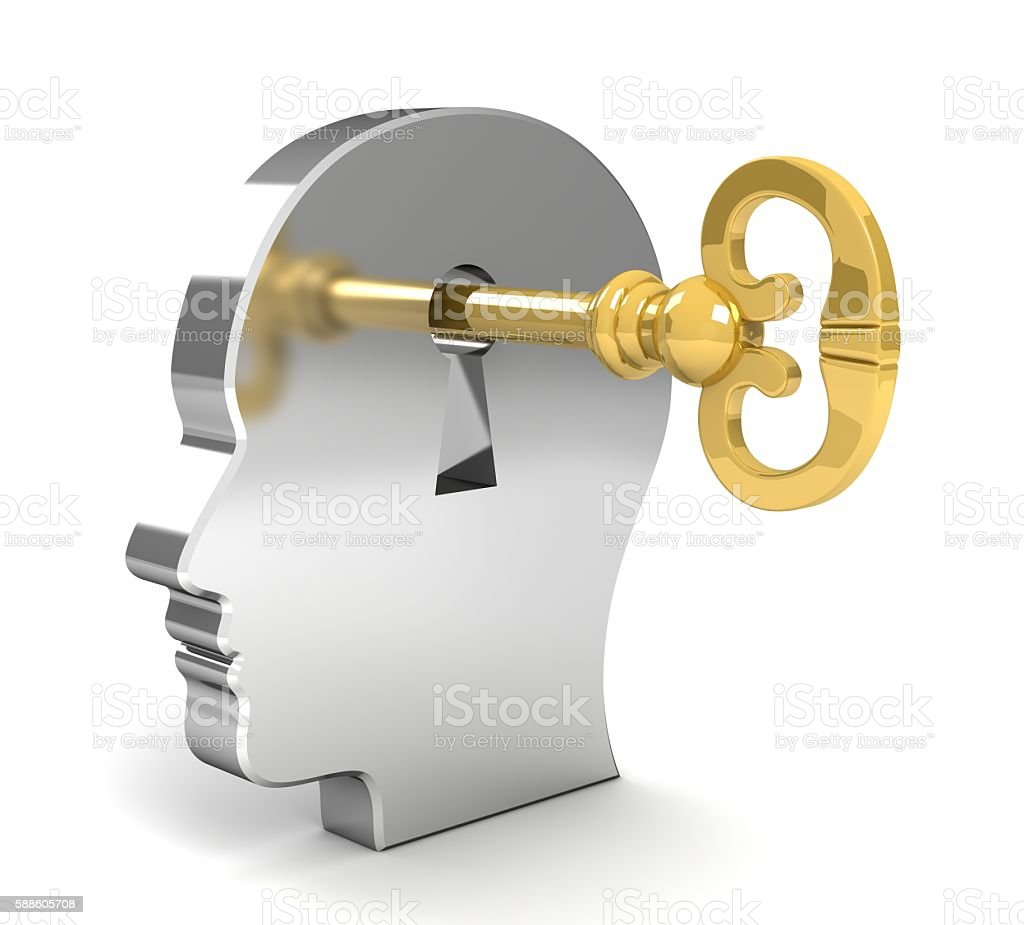 mind lock stock photo