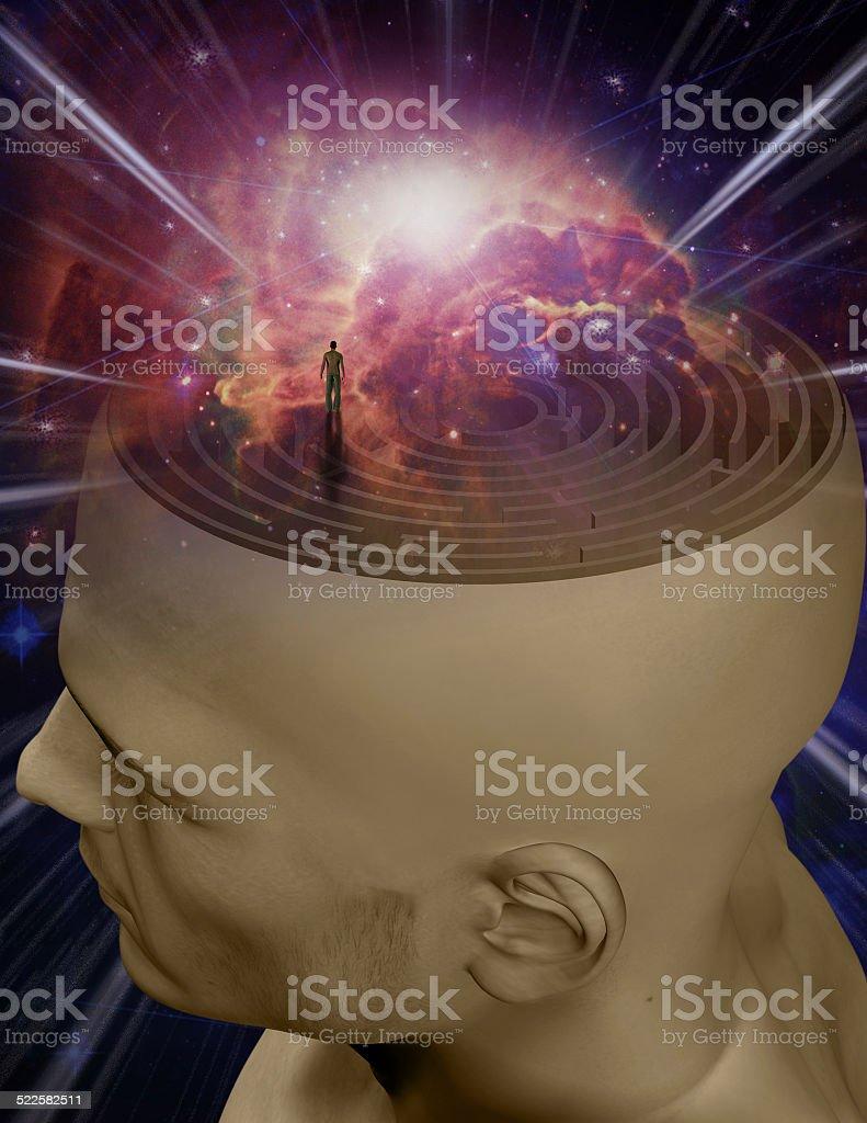 Mind Maze stock photo