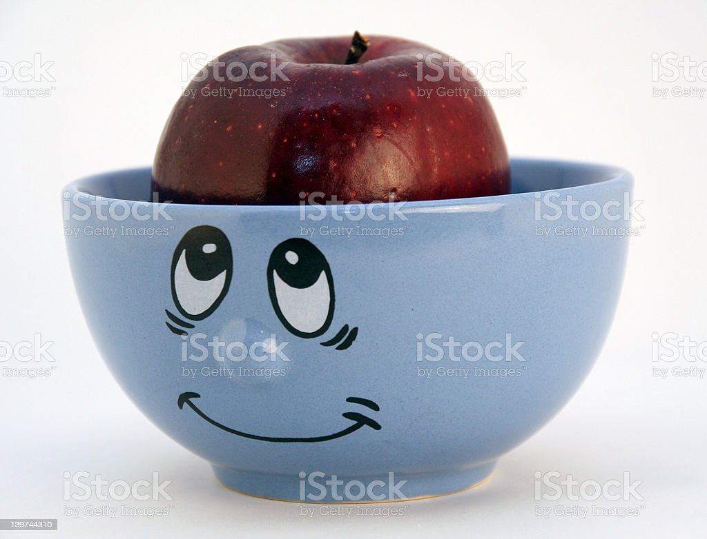 mind of apple ??? metaphor for thought stock photo