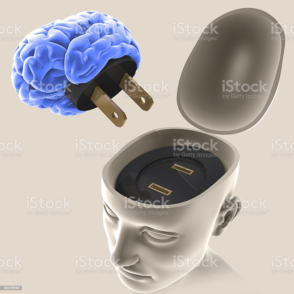 Mind On / Off royalty-free stock photo